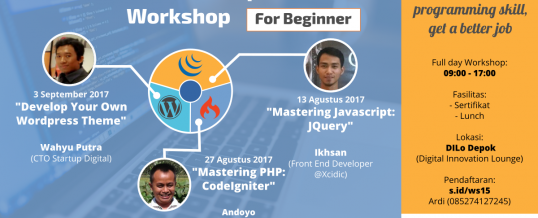 Workshop Rumah Coding Web Development Bulan Agustus 2017