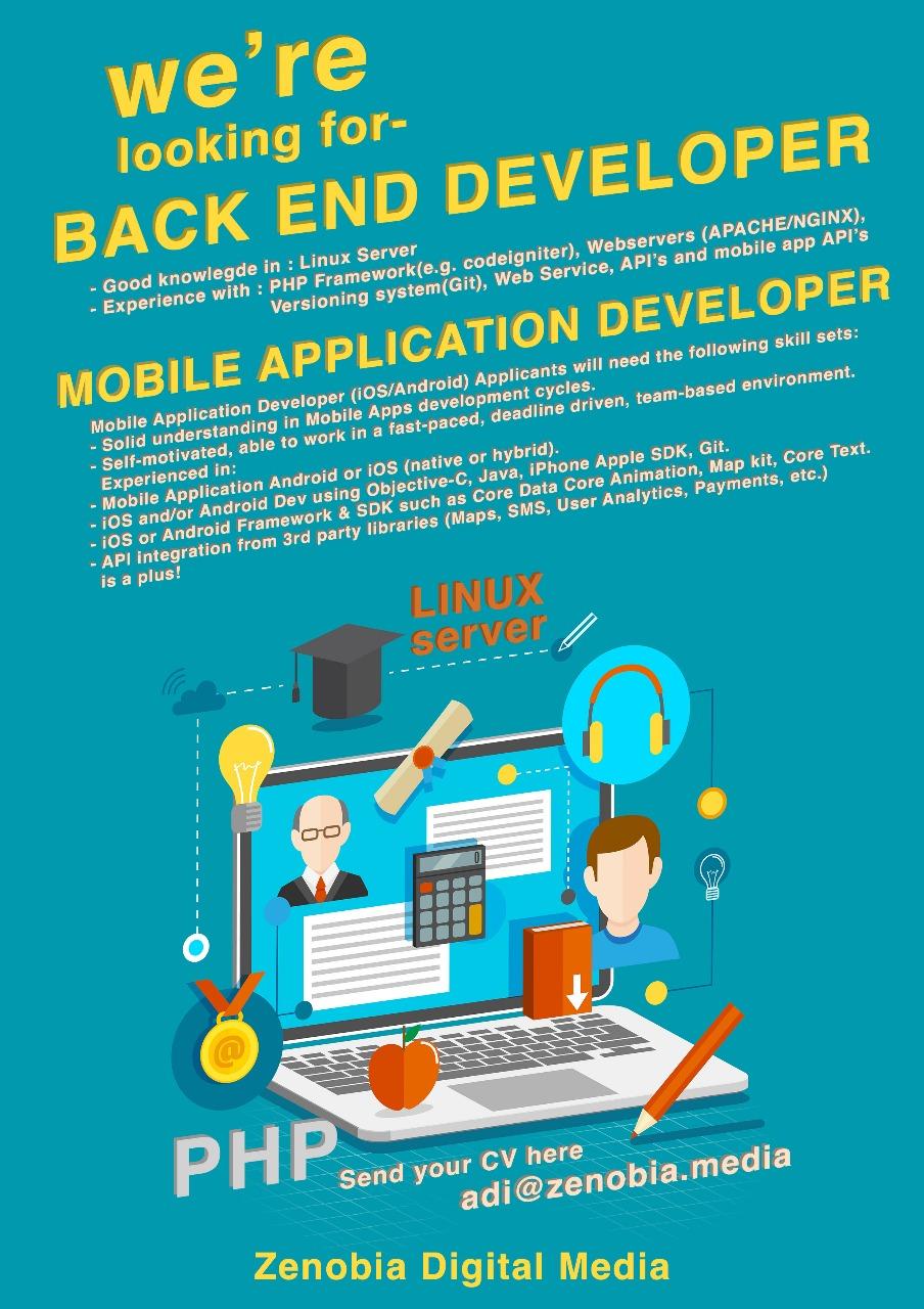 Poster Lowongan Kerja IT - Rumah Coding