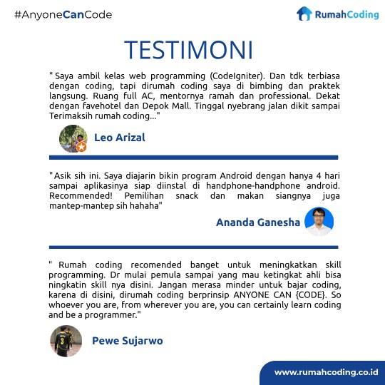 testimony peserta kursus